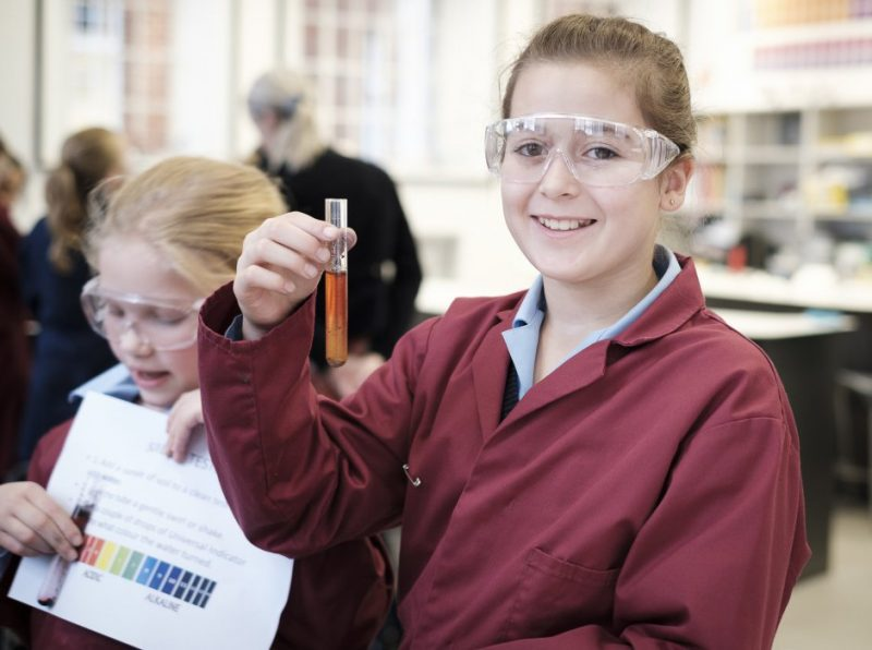 Girls become forensic detectives for the day