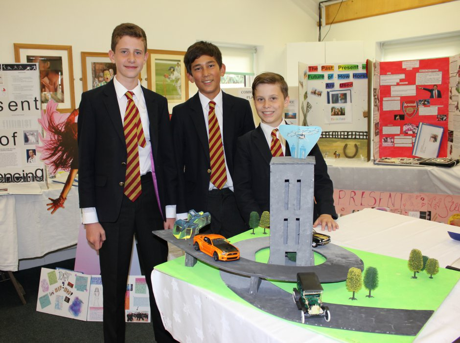 Pupils exhibit their Lower School Diploma research project