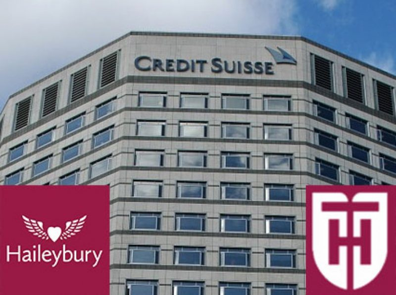 Pupils from Haileybury and Haileybury Turnford secure Credit Suisse placements