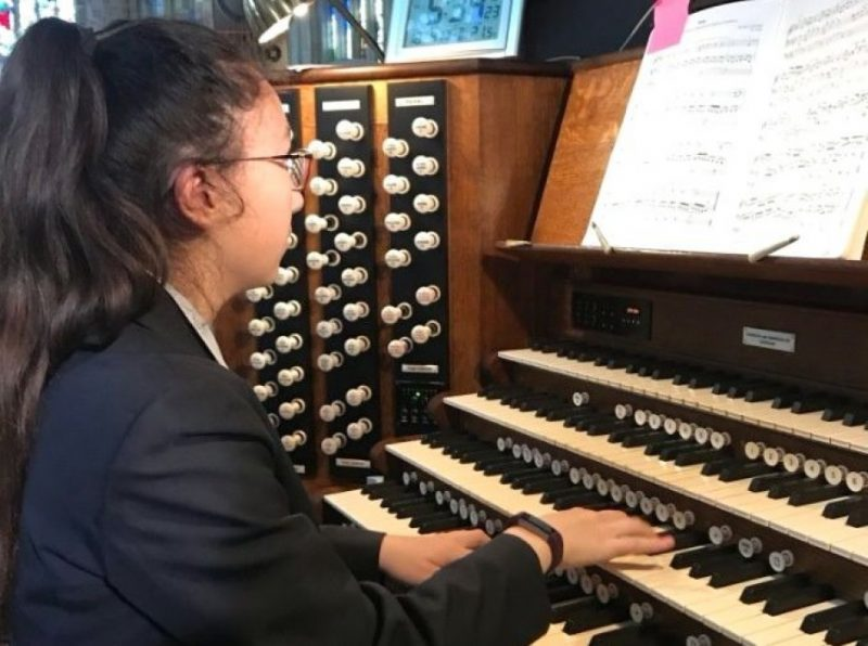 Pupils inspired by Cambridge organ tour