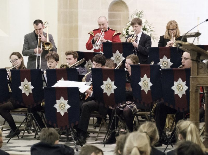 Regimental Band of H.M Irish Guards create fanfare at Haileybury
