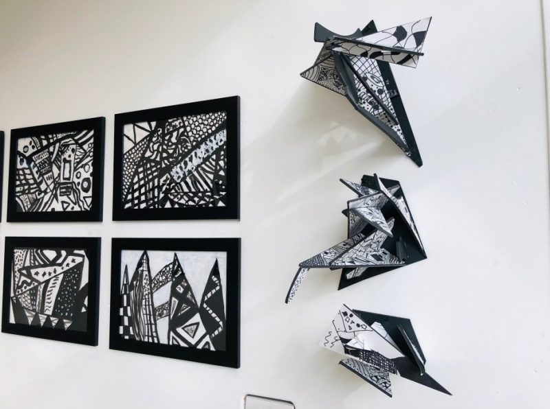 Our Removes displayed their Black & White artwork during a recent exhibition