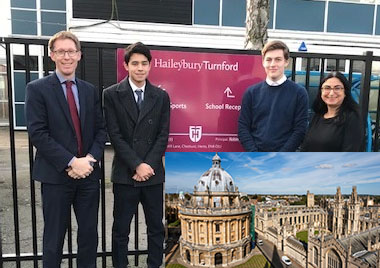 Settling in at Oxford: Former Haileybury Turnford pupil champions workshop scheme
