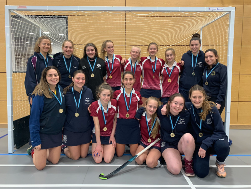Indoor hockey teams do the double at county cup event