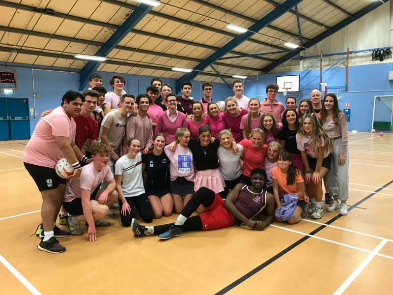 Netball match marks teacher's return after cancer treatment