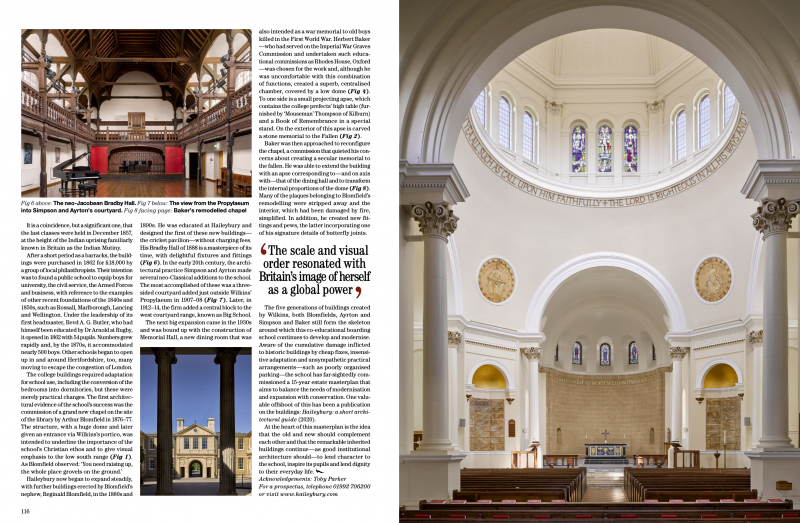 Past and present; a brief history of Haileybury in Country Life magazine