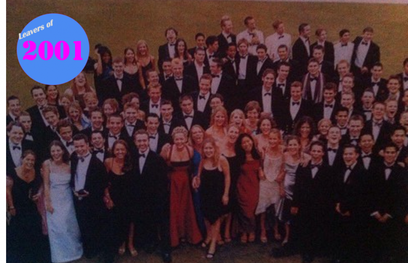 Leavers of 2001 – 20 Year Reunion